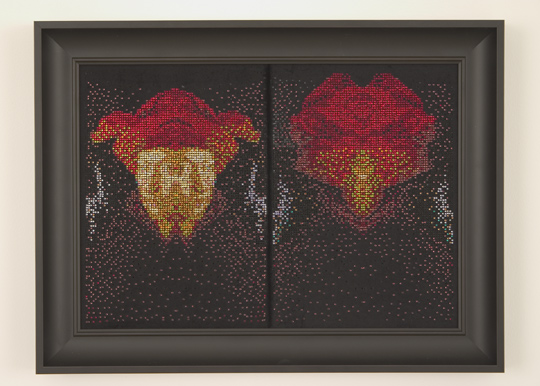 """After van Eyck, (Man with a Red Turban), 2006, by Devorah Sperber, Brooklyn Museum, 2007"