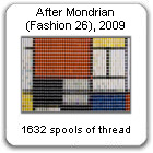 After Mondrian (Fashion 26), 2009, by Devorah Sperber, New York