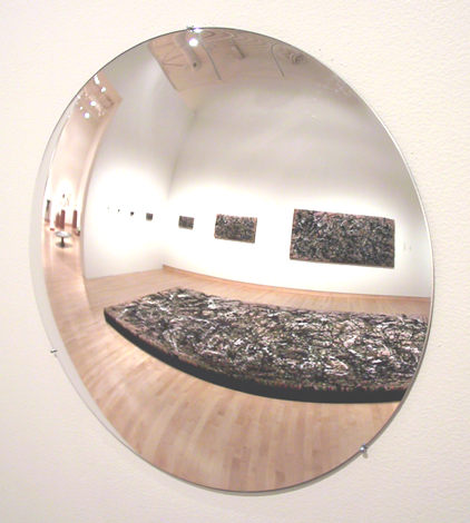 Shag Rug Series (After Pollock), 2002, by Devorah Sperber, Installation View from Solo Exhibition at John Michael Kohler Art Center, 2003